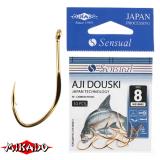 "*Крючки "" Mikado - SENSUAL - AJI DOUSKI  W/RING"" (с ушком)  (HS-AJI DOUSKI W/RING)"