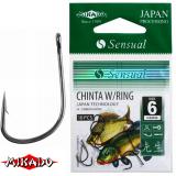 "*Крючки "" Mikado - SENSUAL - CHINTA W/RING"" (с ушком)  (HS-CHINTA W/RING)"