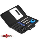 """Арт.AMN-3100 Филейный комплект """"Mikado""""( 3 ножа, ножницы, точилка, разделочная доска) (AMN-3100)"""