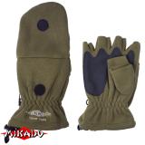 """Арт.UMR-08GN- M Перчатки с откидной варежкой """" Mikado """" зеленые /размер M / (UMR-08G-M)"""