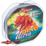"""Леска """"Mikado"""" DINO ULTRA 0,16 (150м) - 3,60 кг (ZTB 016)"""