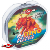 """Леска """"Mikado"""" DINO ULTRA 0,08 (30м) - 1,85 кг (ZTC 008)"""
