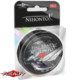 "Плетеный шнур "" Mikado "" NIHONTO FINE BRAID BLACK 0,10 ( 15м ) - 7,70кг (Z21B-010)"