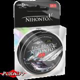 "Плетеный шнур "" Mikado "" NIHONTO FINE BRAID BLACK 0,14 ( 15м ) - 9,70кг (Z21B-014)"