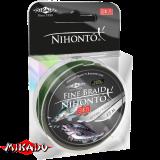 """Плетеный шнур """" Mikado """" NIHONTO FINE BRAID GREEN 0,10 ( 15м ) - 7,70кг (Z21G-010)"""