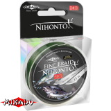 """Плетеный шнур """" Mikado """" NIHONTO FINE BRAID GREEN 0,16 ( 15м ) - 12,50кг (Z21G-016)"""