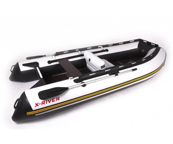 Лодка НДНД X-River AGENT 340 Бело-черная