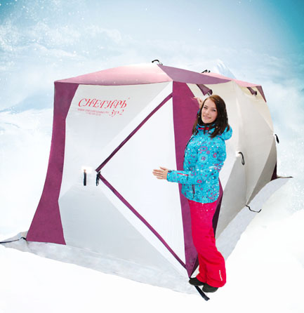 Палатка трёхслойная Снегирь 3у x 2
