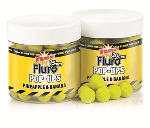 Бойлы плавающие Dynamite Baits Pineapple & Banana Fluoro 20 мм