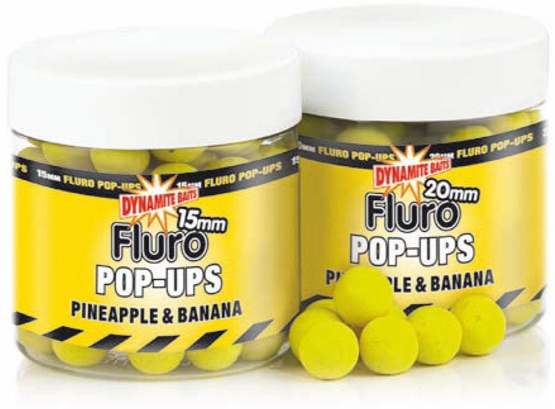 Бойлы плавающие Dynamite Baits Pineapple & Banana Fluro 10 мм