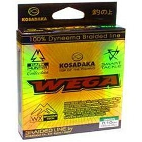 Леска плетеная Kosadaka WEGA 150 м темно-зеленая 0,15 мм Тест: 8,25 кг