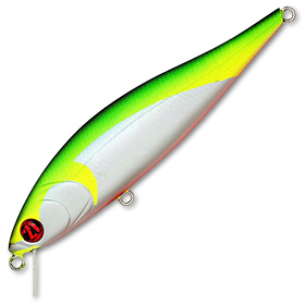 Воблер Pontoon 21 Bet-A-Minnow 102SP-SR вес 14,9 г цвет R37 Flashing Chartreuse