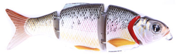 Воблер Izumi Shad Alive 4 section white fish 50 (SLOW SINKING) №2