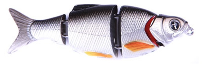 Воблер Izumi Shad Alive 4 section white fish 80 (SLOW SINKING) №9
