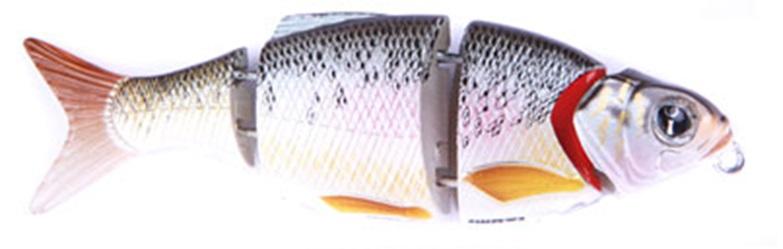 Воблер Izumi Shad Alive 4 section white fish 80 (FAST SINKING) №2