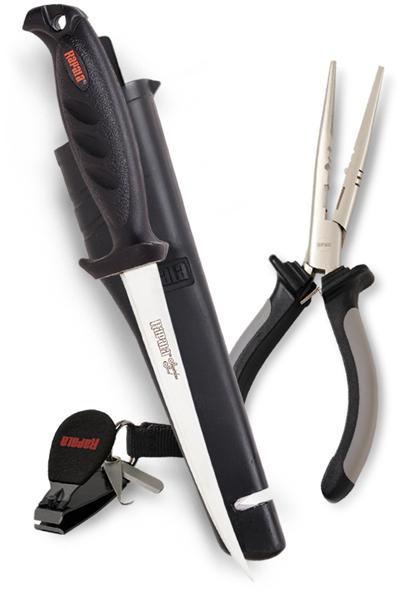 Набор Rapala: плоскогубцы 16 см, нож 136, кусачки