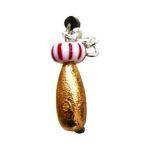 Мормышка вольфрамовая Lucky John НИМФА с петел.. крыл. и бисер. 040/32