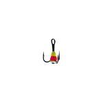 Крючок-тройник для приманок Lucky John с каплей цвет. разм.008/YRF