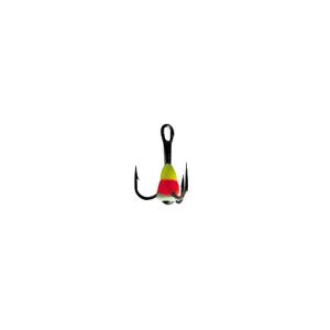 Крючок-тройник для приманок Lucky John с каплей цвет. разм.010/YRF