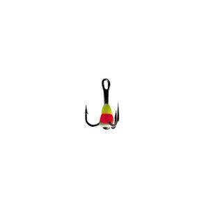 Крючок-тройник для приманок Lucky John с каплей цвет. разм.012/YRF