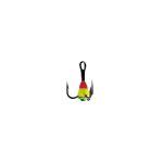Крючок-тройник для приманок Lucky John с каплей цвет. разм.008/RYG