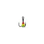 Крючок-тройник для приманок Lucky John с каплей цвет. разм.014/RYG
