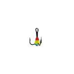 Крючок-тройник для приманок Lucky John с каплей цвет. разм.008/RYB