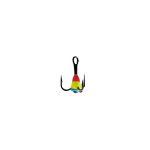 Крючок-тройник для приманок Lucky John с каплей цвет. разм.010/RYB