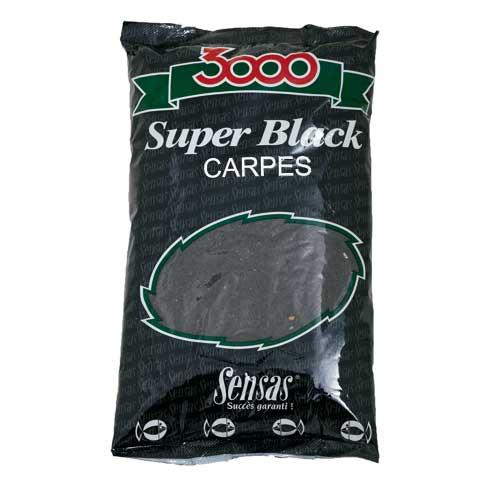 Прикормка Sensas 3000 Super BLACK Carp 1кг