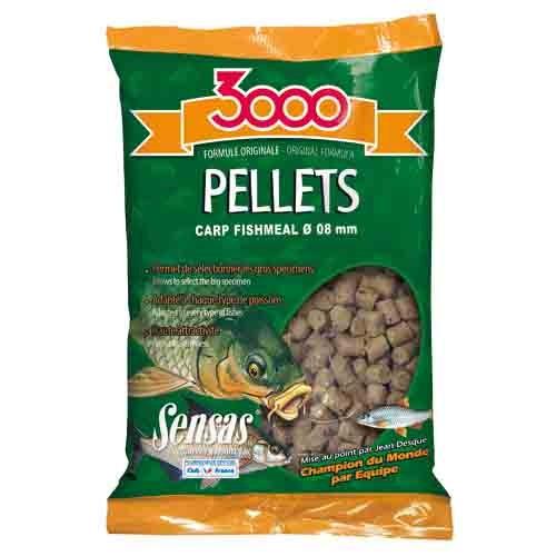 Пеллетс Sensas 3000 CARP Fishmeal 8мм 0.7кг