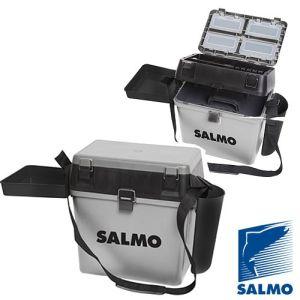 Ящик рыболовный зимний Salmo 2-х ярус.(из 5-ти частей) пласт. 39.5x24.5x38см сер.
