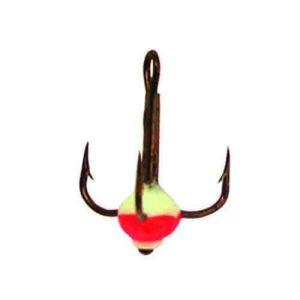 Крючок-тройник для приманок Lucky John с каплей цвет. разм.014/FR