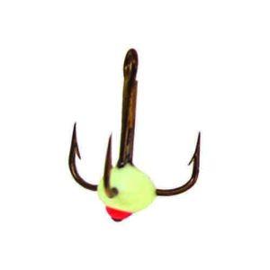 Крючок-тройник для приманок Lucky John с каплей цвет. разм.008/F