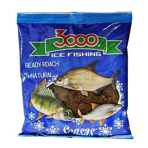 Прикормка зимний готовая Sensas 3000 ROACH NATURAL 0.5кг