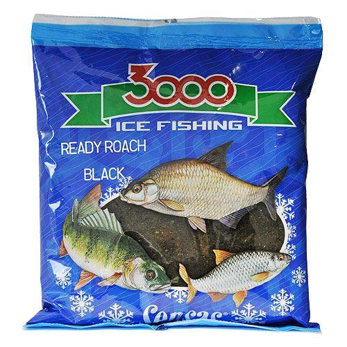 Прикормка зимний готовая Sensas 3000 ROACH BLACK 0.5кг