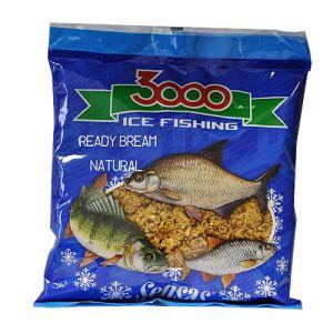 Прикормка зимний готовая Sensas 3000 BREAM NATURAL 0.5кг