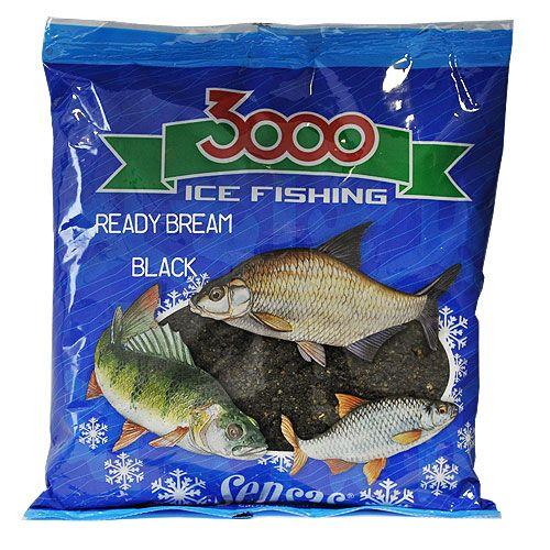 Прикормка зимний готовая Sensas 3000 BREAM BLACK 0.5кг