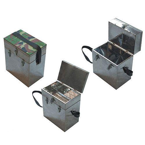 Ящик рыболовный нержавеющая сталь 2-х ярус. 40х19х36см