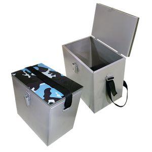 Ящик рыболовный окрашеный сталь 30х19х29см