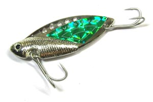Блесна Kosadaka Wave Striker Cicada Silver/Green 10 гр
