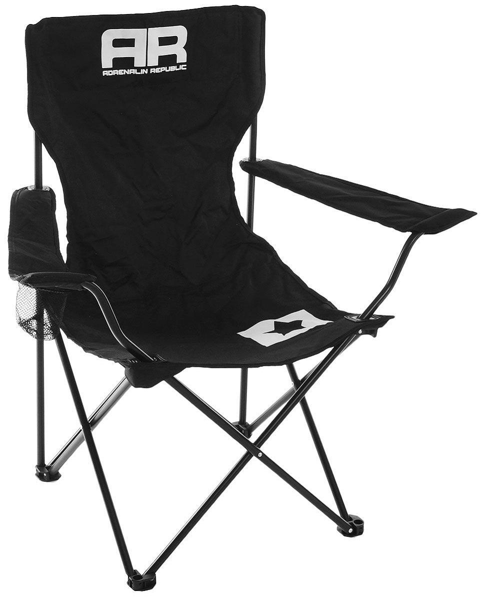 Складной стул Adrenalin Republic Mac Tag Jr. Black (подлокотники, держатель стакана)