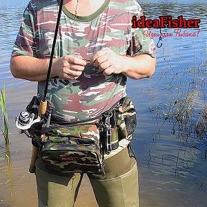Stakan-8 КАМУФЛЯЖ Пояс–держатель удилища + сумка спиннингиста
