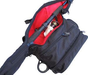 Stakan Stradivari ЧЕРНЫЙ Чехол для удилища (до 132 см) + пясная сумка с держателем удилища