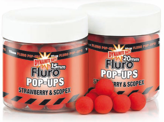 Бойлы плавающие Dynamite Baits Strawberry & Scopex Fluro 10 мм