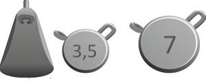 Набор грузил IZUMI Umami Weights L pack (3.5гр x 4шт. + 7 гр. x 4 шт.), 8 шт в упак.