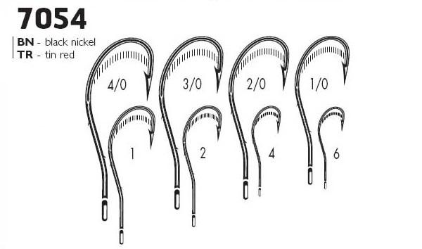 Крючки VMC 7054 BN (10шт) № 2