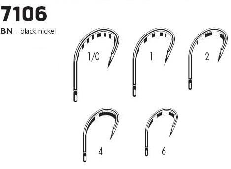 Крючки VMC 7106 BN (10шт) № 4