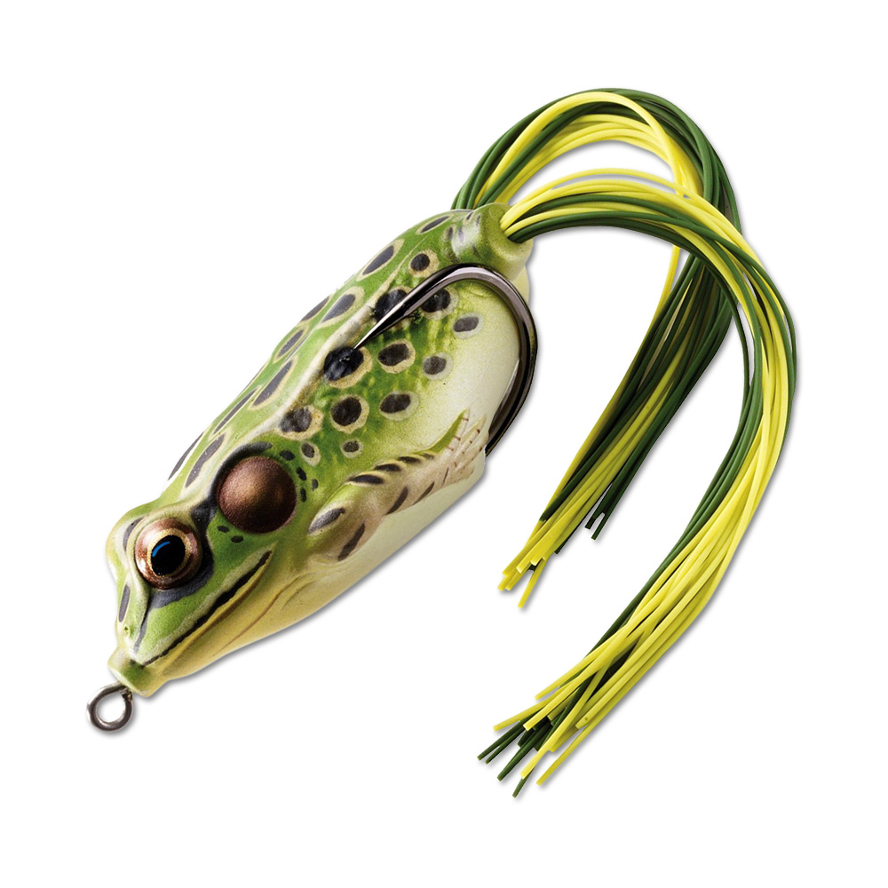 Воблер LiveTarget Frog Hollow Body 55F вес 18  гр. цвет  500 Green/Yellow