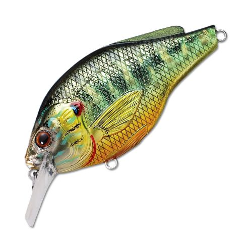 Воблер LiveTarget Sunfish Flat Side Squarebill PSS70 вес 14  гр. цвет  PS 102 Metallic/Gloss