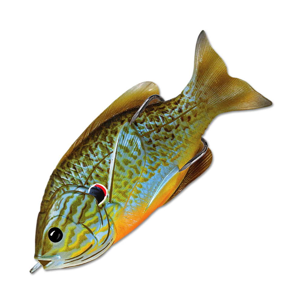 Воблер LiveTarget Sunfish Hollow Body 90F вес 18  гр. цвет  551 Natural/Blue Pumpkinseed